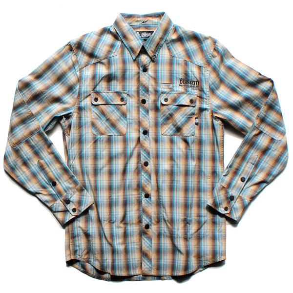 Dx1369 L/S Button Up Shirt (Blue/Brown Plaid)