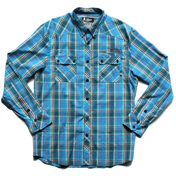 Dx1369 L/S Button Up Shirt (Blue Plaid)