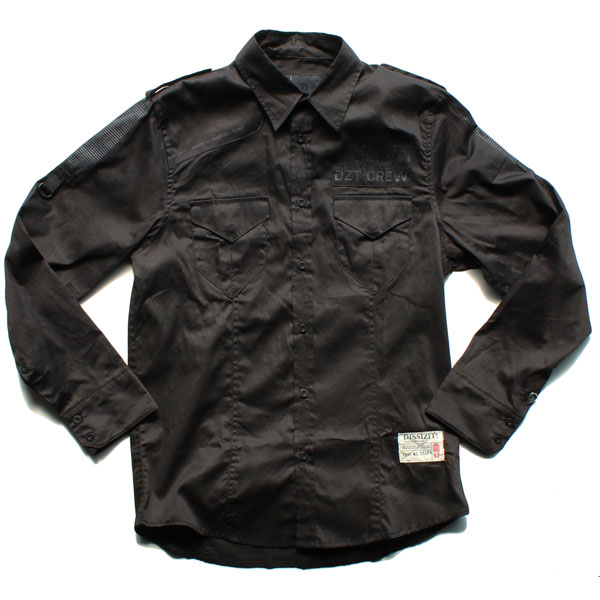 Legionnaire L/S Button Up Shirt (Black)