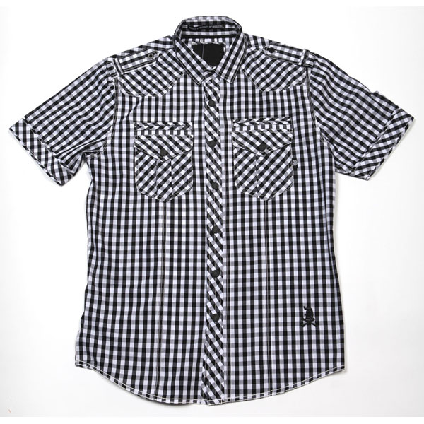 Liberty S/S Button Up Shirt (Black Gingham)