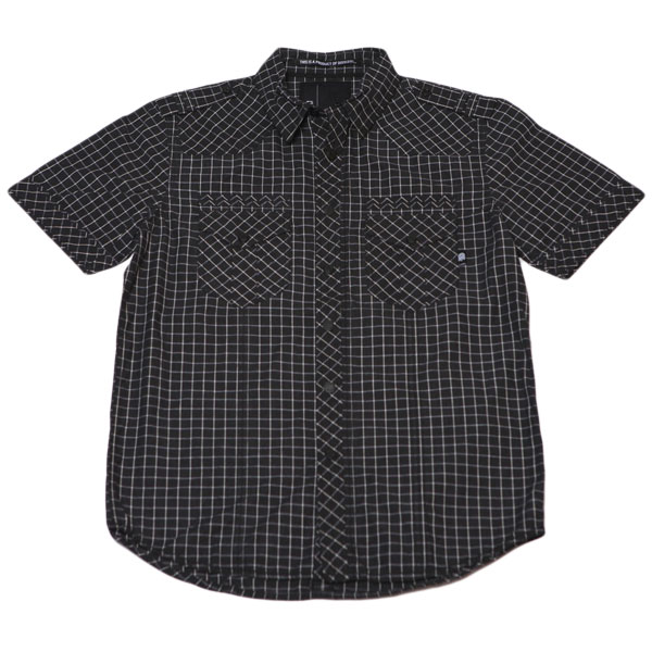Liberty S/S Button Up Shirt (Black Ripstop)