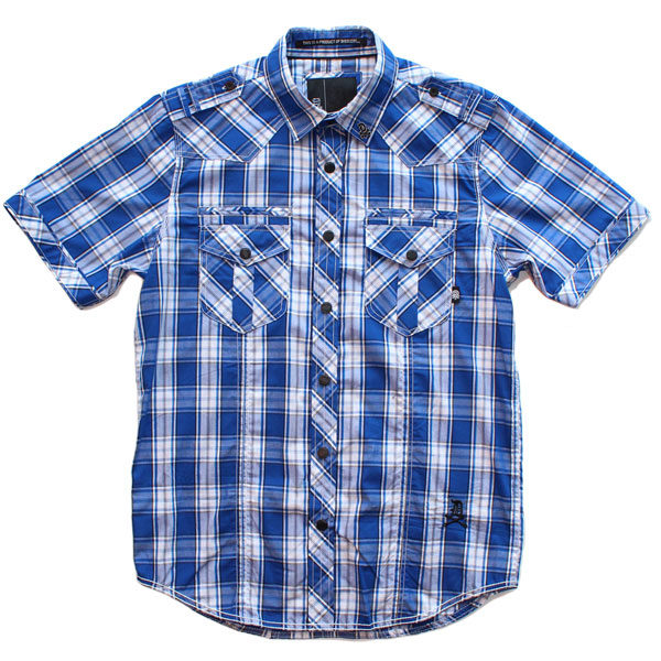 Liberty S/S Button Up Shirt (Blue Plaid)