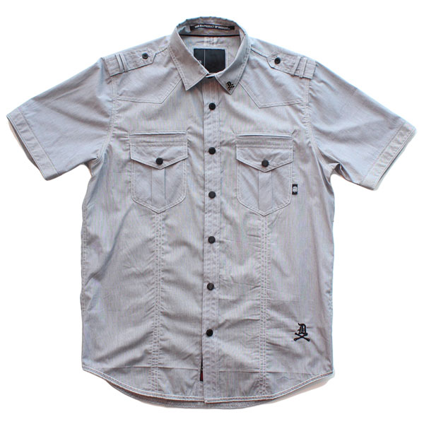 Liberty S/S Button Up Shirt (Grey)