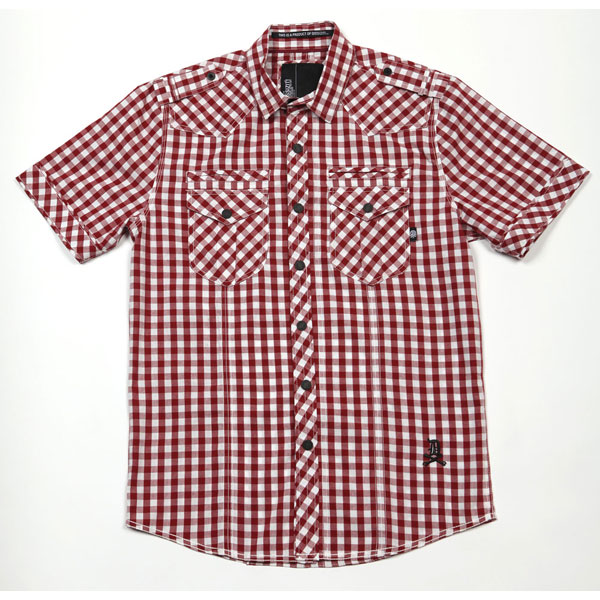 Liberty S/S Button Up Shirt (Red Gingham)