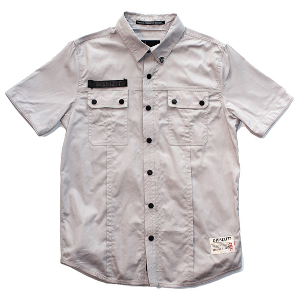 SSDD S/S Button Up Shirt (Grey)
