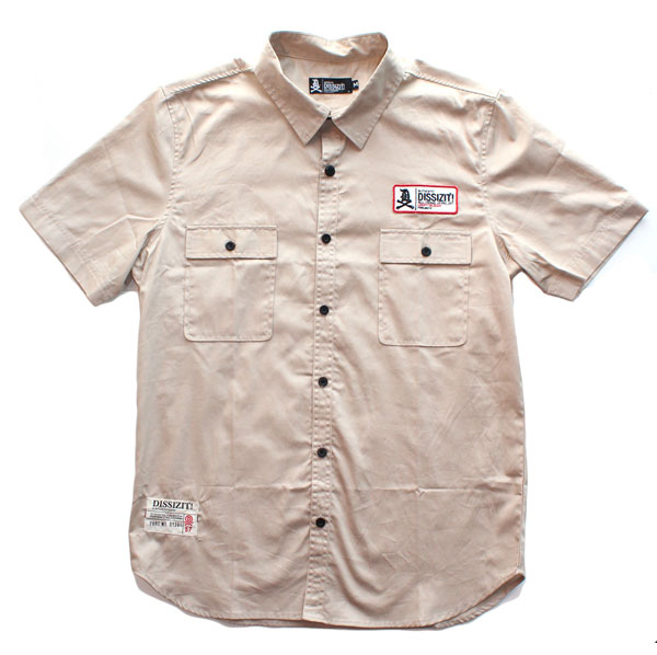 Shop S/S Button Up Shirt (Khaki)