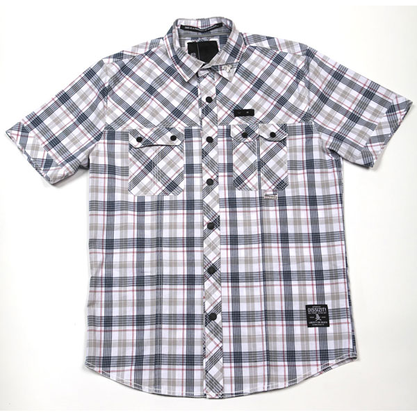Squad S/S Button Up Shirt (Blue Plaid)