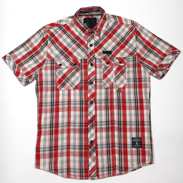Squad S/S Button Up Shirt (Red Plaid)